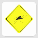 Mosquito Warning Sign Nuisance insect/bug pest Square Sticker