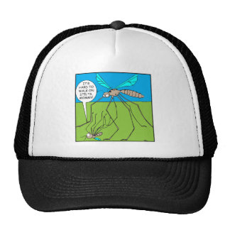 Mosquitoes on stilts. trucker hat