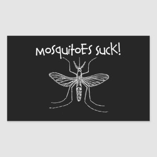 Mosquitoes Suck Rectangular Sticker