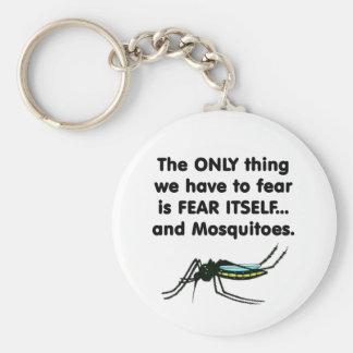Mosquitos 1 del miedo sí mismo llavero redondo tipo pin