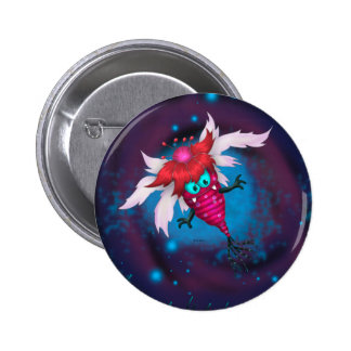 MOSQUITOS 2 ALIEN MONSTER CARTOON  Button 2¼ Inch
