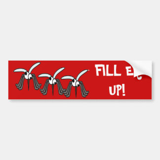 ¡Mosquitos - llenador Er para arriba! Etiqueta De Parachoque