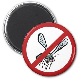 mosquitos prohibited! 2 inch round magnet