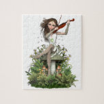 """Moss Agate Fairy ~ Melody Jigsaw Puzzle<br><div class=""""desc"""">Moss Agate Fairy ~ Melody a Beautiful Fairy Design by N K Townsend for Magical Artz.</div>"""