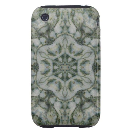 Moss Agate Hexagon Tough iPhone 3 Case