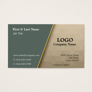 Moss and Tan Cubes Professional Business Card