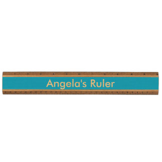 Moss Blue Durable Color Matched Maple Ruler