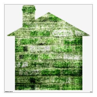 Moss Brick House Wall Sticker