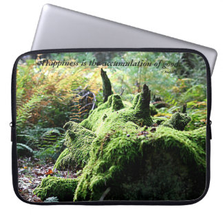 Moss Covered Log Laptop Sleeve