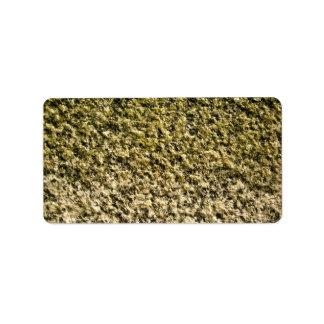Moss Covered Rock Pattern Address Label
