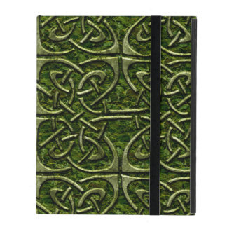 Moss Covered Stone Connected Ovals Celtic Pattern iPad Cover
