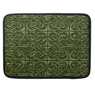 Moss Covered Stone Connected Ovals Celtic Pattern Sleeve For MacBook Pro