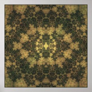 moss devas under leaf-filtered light poster