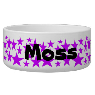 Moss Dog Bowl, Name Template Bowl
