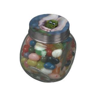 Moss eyes glass jar