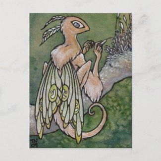 Moss fairy postcard postcard
