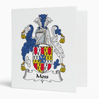 Moss Family Crest 3 Ring Binder
