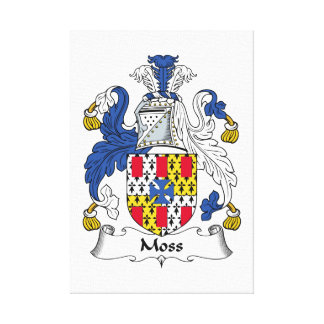 Moss Family Crest Canvas Print
