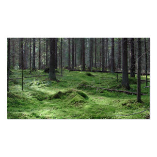 Moss Forest Double-Sided Standard Business Cards (Pack Of 100)