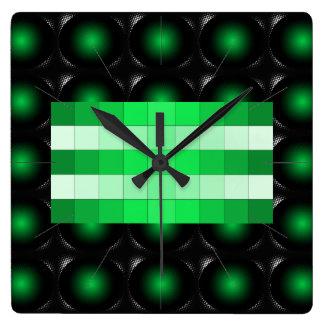 Moss Green 3D Color Design Wall Clock 12