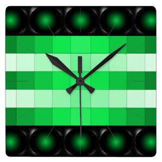Moss Green 3D Color Design Wall Clock 13