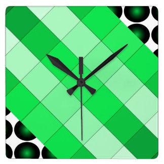 Moss Green 3D Color Design Wall Clock 3