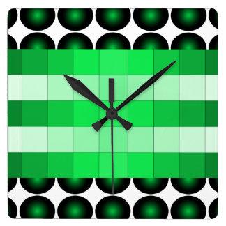 Moss Green 3D Color Design Wall Clock 4
