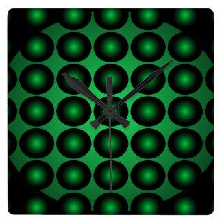 Moss Green 3D Color Design Wall Clock 4c