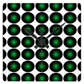 Moss Green 3D Color Design Wall Clock 5