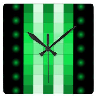 Moss Green 3D Color Design Wall Clock 7