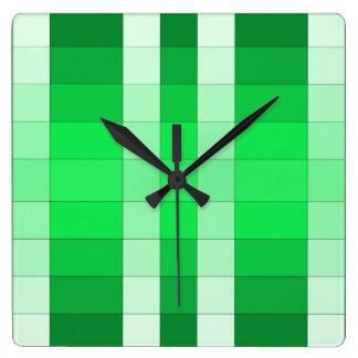 Moss Green 3D Color Design Wall Clock 8