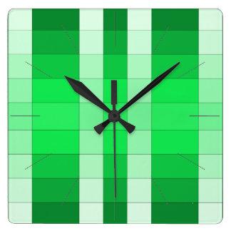 Moss Green 3D Color Design Wall Clock 9