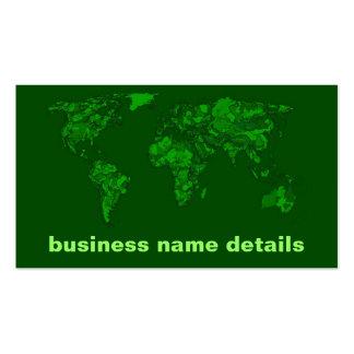 Moss green atlas business cards
