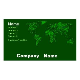 Moss green atlas business card templates
