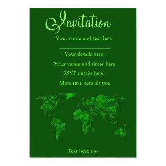 Moss green atlas card