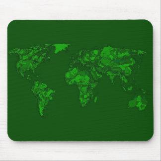 Moss green atlas mousepad