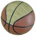Moss Green Bamboo Wood Grain Look Basketball