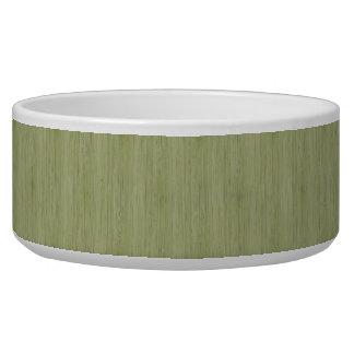 Moss Green Bamboo Wood Grain Look Bowl