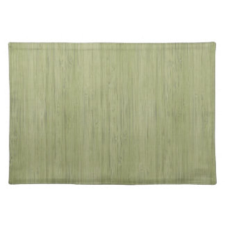 Moss Green Bamboo Wood Grain Look Cloth Placemat