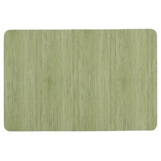 Moss Green Bamboo Wood Grain Look Floor Mat