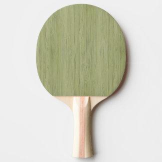 Moss Green Bamboo Wood Grain Look Ping-Pong Paddle
