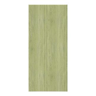 Moss Green Bamboo Wood Grain Look Rack Card