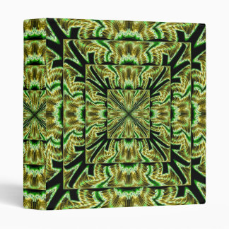 Moss Green Black Fractal Binder