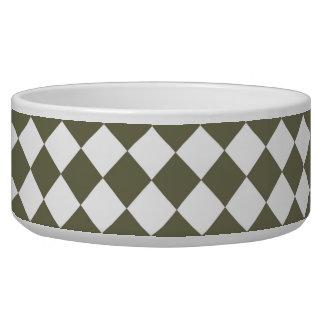 Moss Green Checkerboard pattern Bowl
