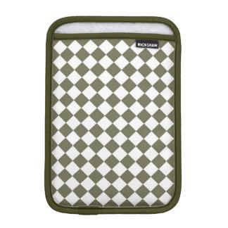 Moss Green Checkerboard pattern iPad Mini Sleeves