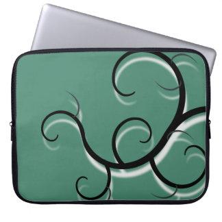 Moss Green Creeping Vine Effect Laptop Sleeve