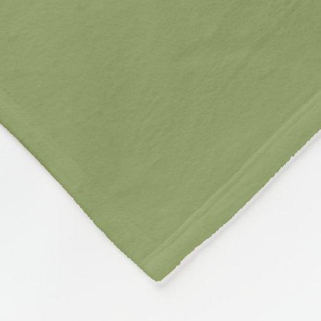 Moss Green Fleece Blanket