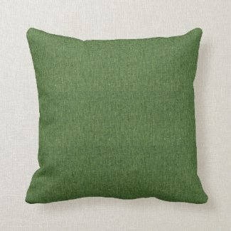 Moss Green Linen Like Throw Pillow