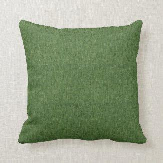 Moss Green Linen Like Throw Pillow