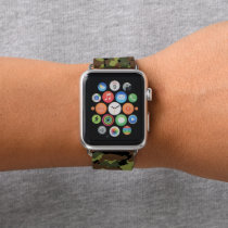 Moss Green Military Camo Apple Watch Band